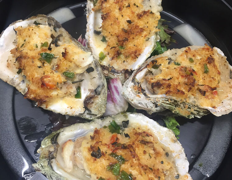 Stuffed Baked Oysters
